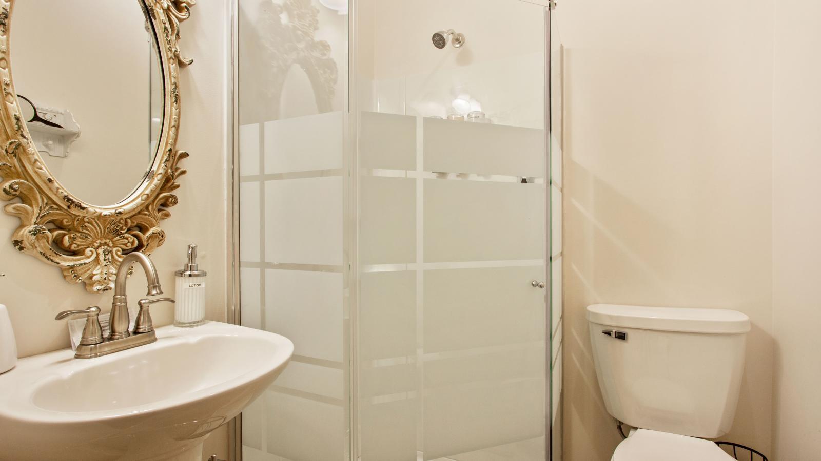 In-suite private bathroom