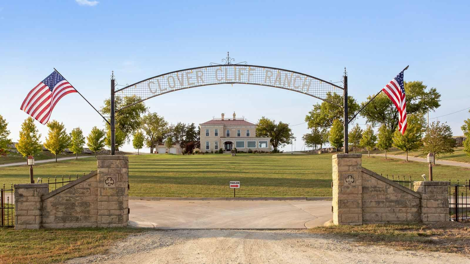 Entrance to Clover Cliff Ranch